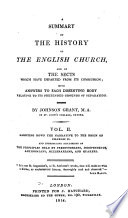 A Summary of the History of the English Church and of the Sects which Have Departed from Its Communion  Carrying down the narrative to the reign of Charles II