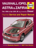 Vauxhall Opel Astra And Zafira Owner S Workshop Manual