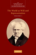 cover img of Schopenhauer: 'The World as Will and Representation':
