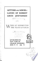 The Novels and Tales of Robert Louis Stevenson  Weir of Hermiston  The plays  Fables  v  21  St  Ives