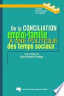 illustration De la conciliation emploi-famille à une politique des temps sociaux