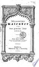 Astronomischer Kalender für das gemeine Jahr 1835