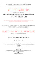download ebook muret-sanders encyklopädisches englisch-deutsches und deutsch- englisches wörterbuch: english-german pdf epub