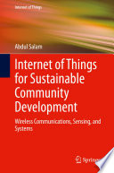 Internet Of Things For Sustainable Community Development