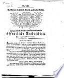 Herzogl. Fürstl. Anhalt-Dessauische wöchentliche öffentliche Nachrichten