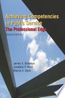 Achieving Competencies in Public Service  The Professional Edge