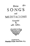Divine Songs and Meditacions (1653)