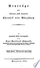 Beyträge zur ältern und neuern Chronik von Würzburg