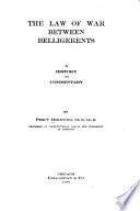 The Law of War Between Belligerents