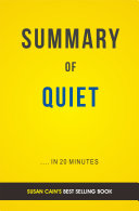 Quiet  by Susan Cain   Summary   Analysis