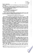 Law Enforcement And Public Safety Enhancement Act Of 1999