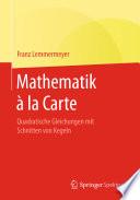 Mathematik à la Carte