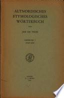 Altnordisches etymologisches Wörterbuch