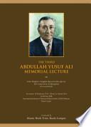 The Abdullah Yusuf Ali Memorial Lecture 2013   Souvenir Booklet