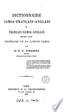 Dictionnaire samoa fran  ais anglais et fran  ais samoa anglais