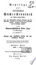 Beyträge zur civilistischen Bücher Kenntnisz der letzten vierzig Jahre, 1788-1827