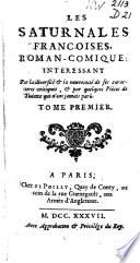 Les saturnales francoises, roman-comique