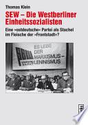 SEW – Die Westberliner Einheitssozialisten