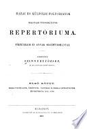 Hazai és külföldi folyóiratok magyar tudományos repertóriuma: v. 2. Történelem és segédtudományai: Hirlapok 1731-1880