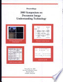 Proceedings 2005 Symposium on Document Image Understanding Technology