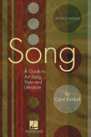 Song : a guide to art song style and literature /
