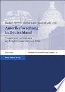 Amerikaforschung in Deutschland