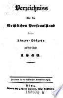 Verzeichniß über den geistlichen Personalstand der Linzer Diöcese