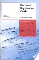 Document Registration Guide 10th Edition 2009
