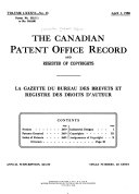 Book Canadian Patent Office Record
