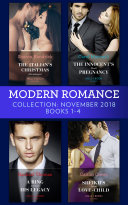 Modern Romance November Books 1-4: The Italian's Christmas Housekeeper / The Innocent's Shock Pregnancy / A Ring To Claim His Legacy / Sheikh's Secret Love-Child : ...