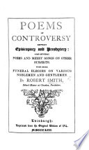 Smith s Poems of controversy betwixt episcopacy and presbytery      as also  several poems and merry songs on other subjects     In two parts Book PDF