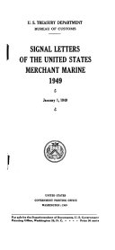 Signal Letters of the United States Merchant Marine