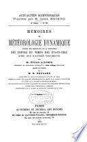Mémories de météorologie dynamique exposé des résultats de la discussion des cartes du temps des États-Unis ainsi que d'autres documents