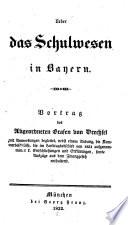 Über das Schulwesen in Bayern