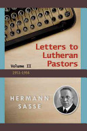 Letters to Lutheran Pastors