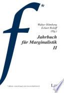 Jahrbuch für Marginalistik II