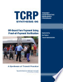 Off board Fare Payment Using Proof of payment Verification