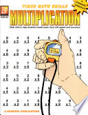 Timed Math Drills Multiplication book