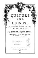 Culture and Cuisine