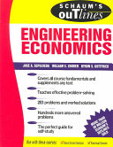 Schaums Outline of Engineering Economics  EBOOK