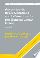 Automorphic Representations and L Functions for the General Linear Group