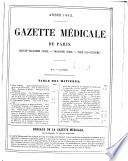 Gazette m  dicale de Paris