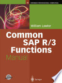 Common SAP R 3 Functions Manual