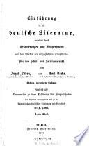 Einfuehrung In Die Deutsche Literatur