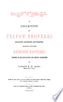 A Collection of Telugu Proverbs
