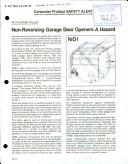 Non-reversing Garage Door Openers a Hazard
