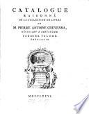 Catalogue raisonn   de la collection des livres de P A  Crevenna