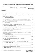 Advanced Studies in Contemporary Mathematics