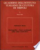 Storiografia e fonti occidentali sulla Libia  1510 1911