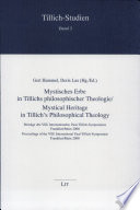 Mystical heritage in Tillich's philosophical theology